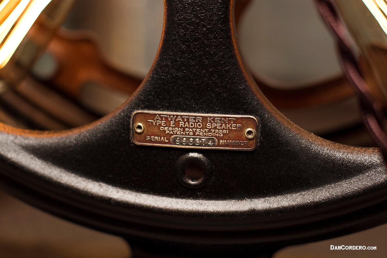 Atwater Kent Speaker Lamp