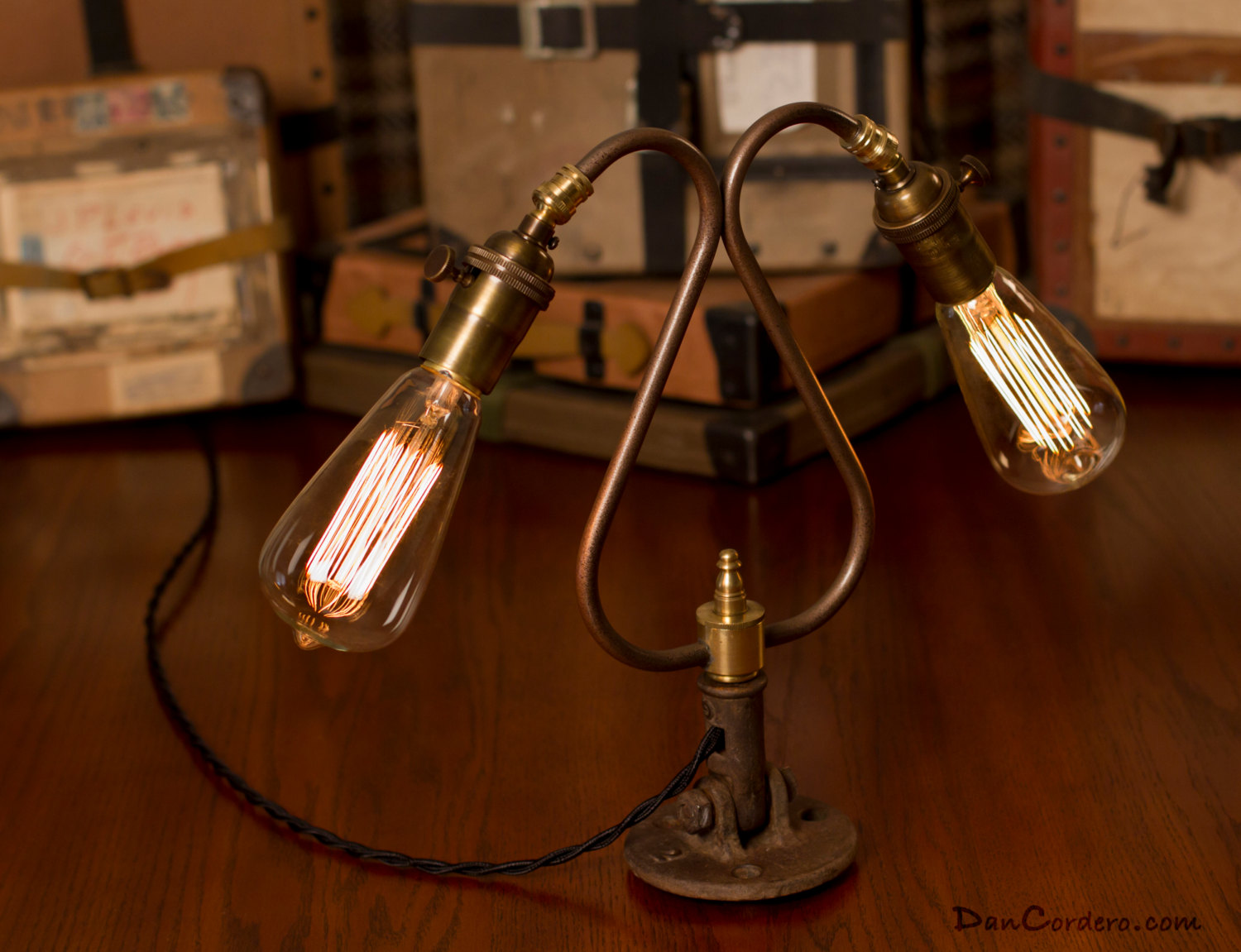 duel edison bulb table lamp dan cordero