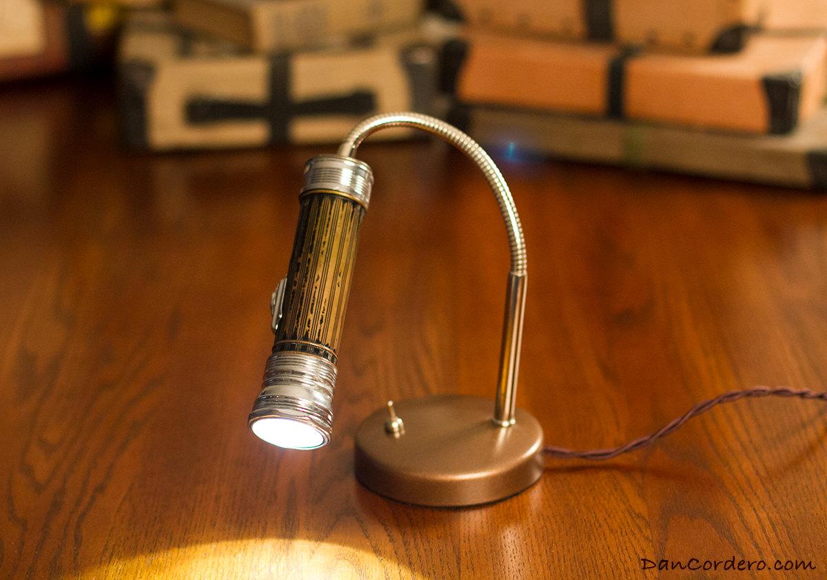 Vintage Flashlight Table Lamp