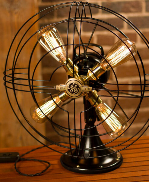 GE Vintage Edison Fan Lamp