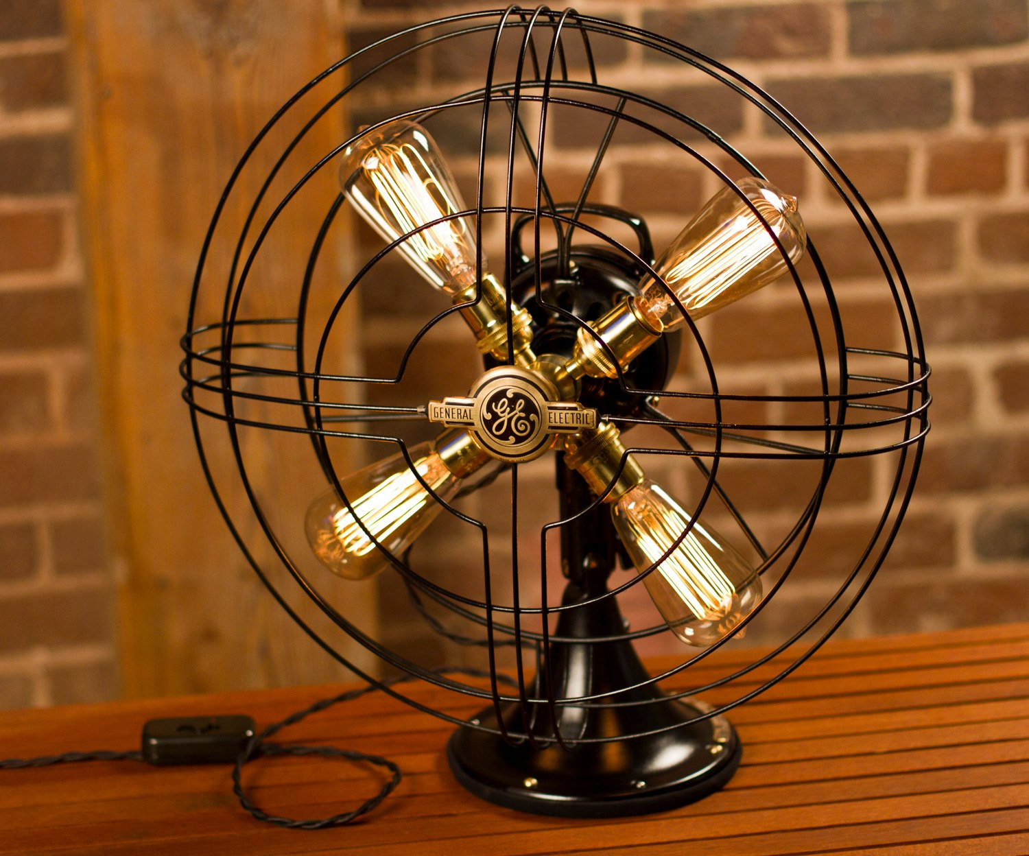 General Electric Fan Lamp Table Lamp Steampunk