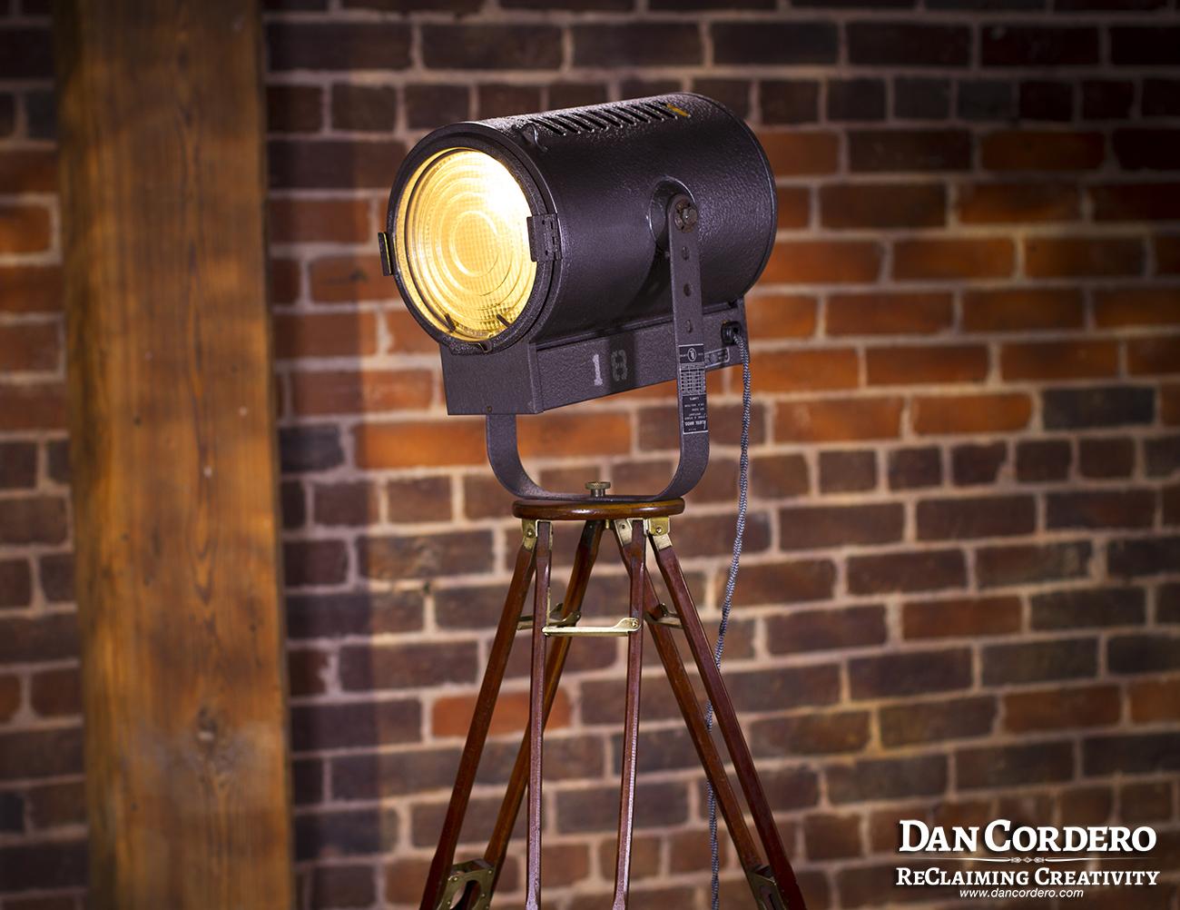 Vintage Stage Amp Studio Spotlight Floor Lamp Cordero