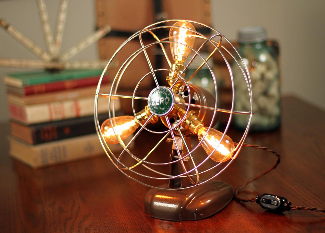 Fan Lamp Zero Model Table Lamp Desk Lamp Steampunk
