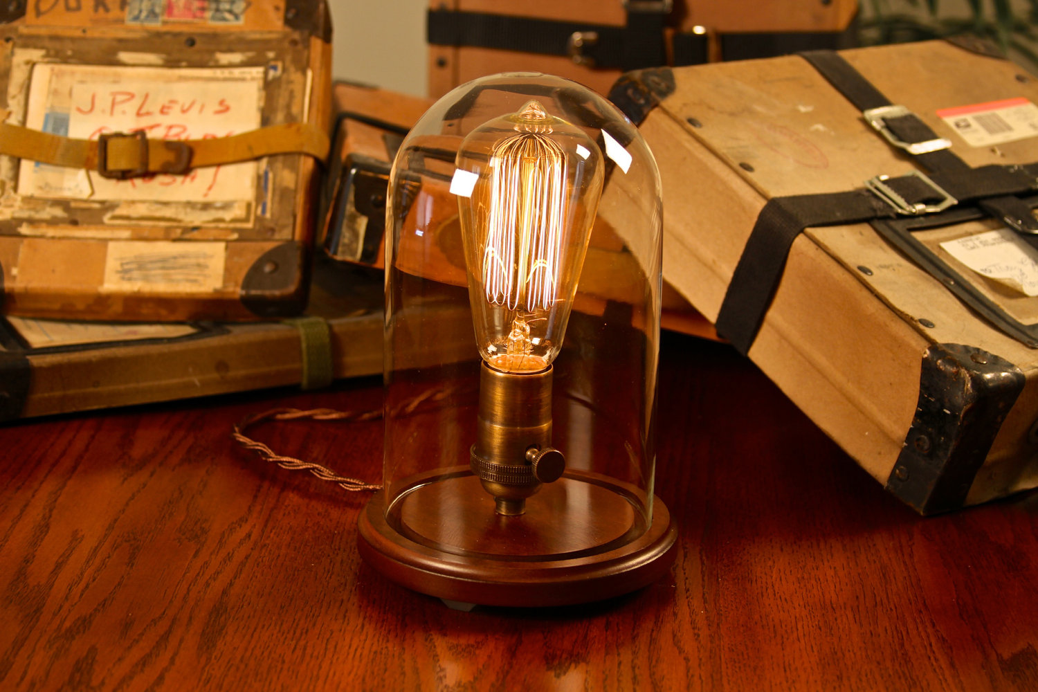 Edison Glass Bell Jar Lamp Desk Lamp Table Lamp