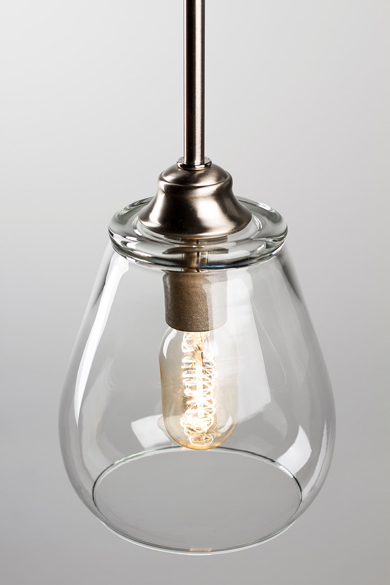 Pendant light fixture edison bulb brushed nickel for A lamp and fixture