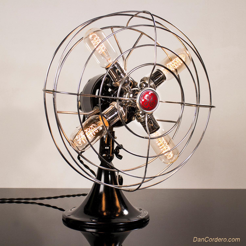 Edison Bulb Fan Floor Lamp: Dan Cordero