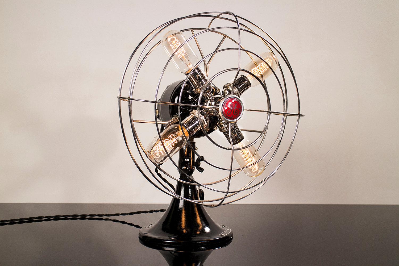 Fan Lamp Medium Ge Model Chrome Dan Cordero