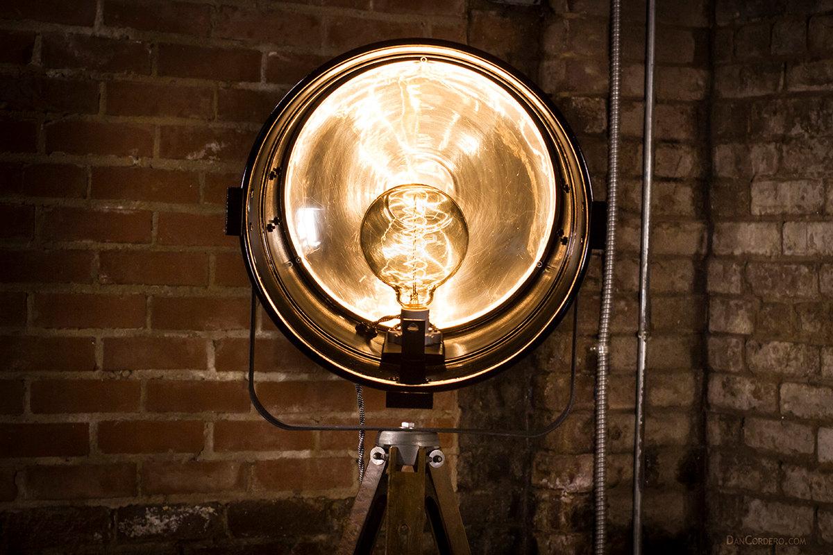 Vintage Theater Stage Light Floor Lamp Dan Cordero