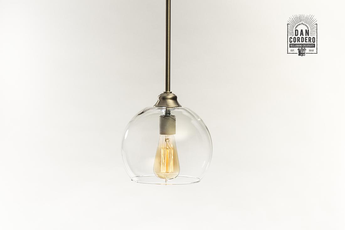 Glass Globe Pendant Light Fixture