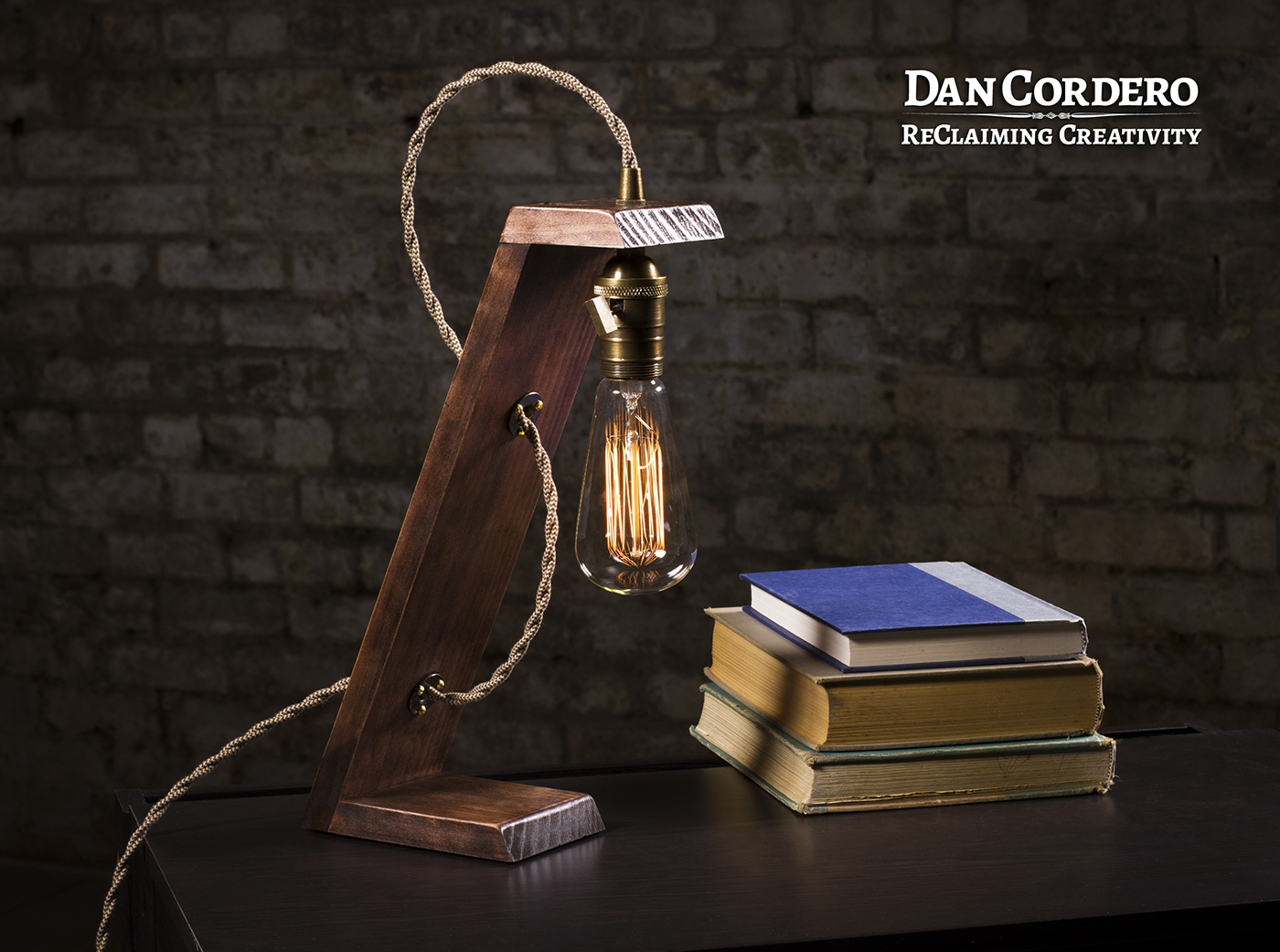 Wooden Edison Table Lamp, Desk Lamp, Edison Light