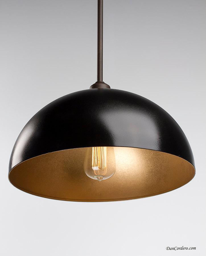 Oil Rubbed Bronze Gold Dome Edison Bulb Pendant Light Fixture Dan Cor