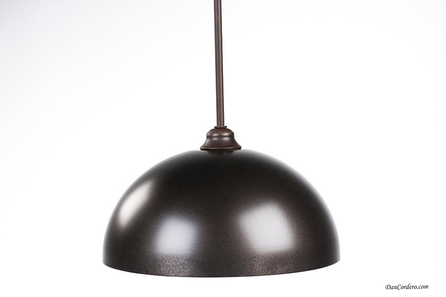 Oil Rubbed Bronze & Gold Dome Edison Bulb Pendant Light