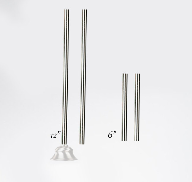 Pendant Extension Rod Kit Brushed Nickel Bronze