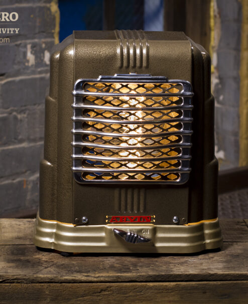 Vintage Heater Table Lamp