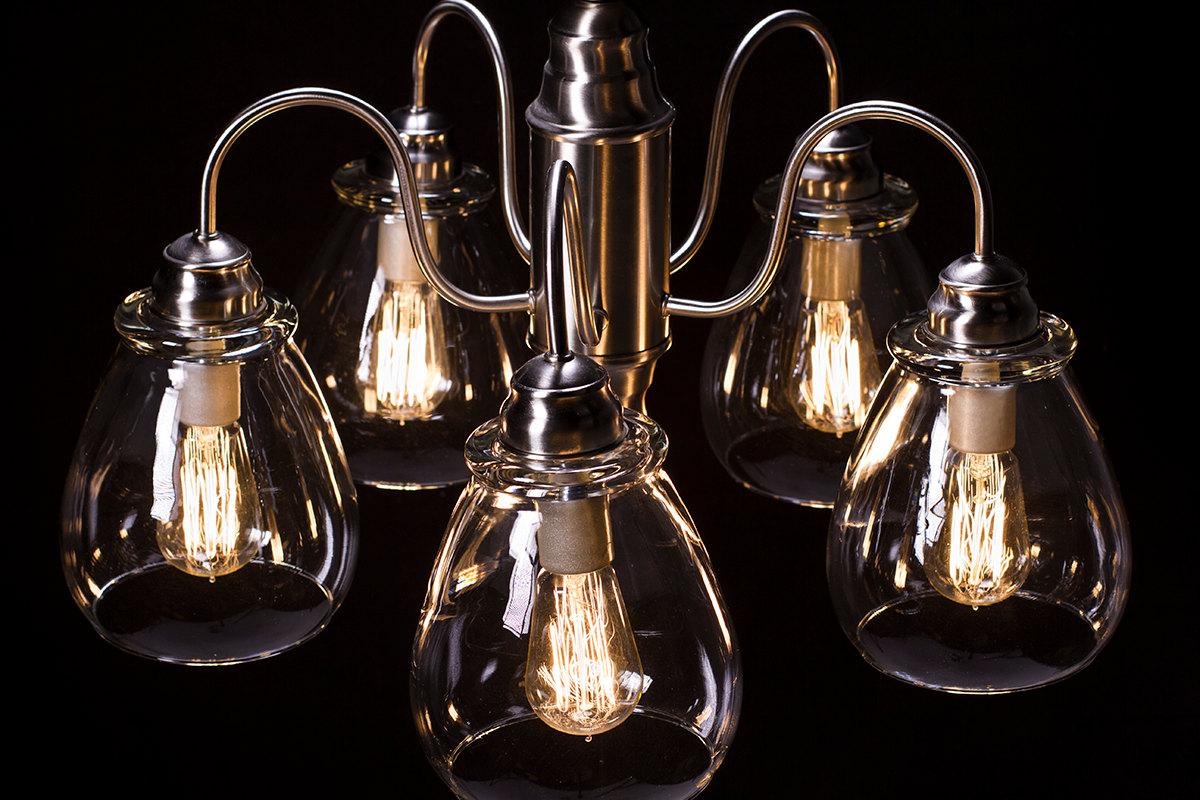 Edison Bulb Chandelier - Pear Glass - Dan Cordero