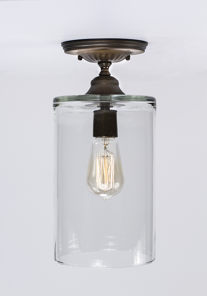 Flush Ceiling Mount Edison Light Fixture Oil Rubbed Bronze Dan Cordero