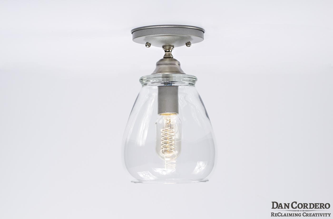 Shop Progress Lighting 4 Light Calven Brushed Nickel: Edison Light Fixture