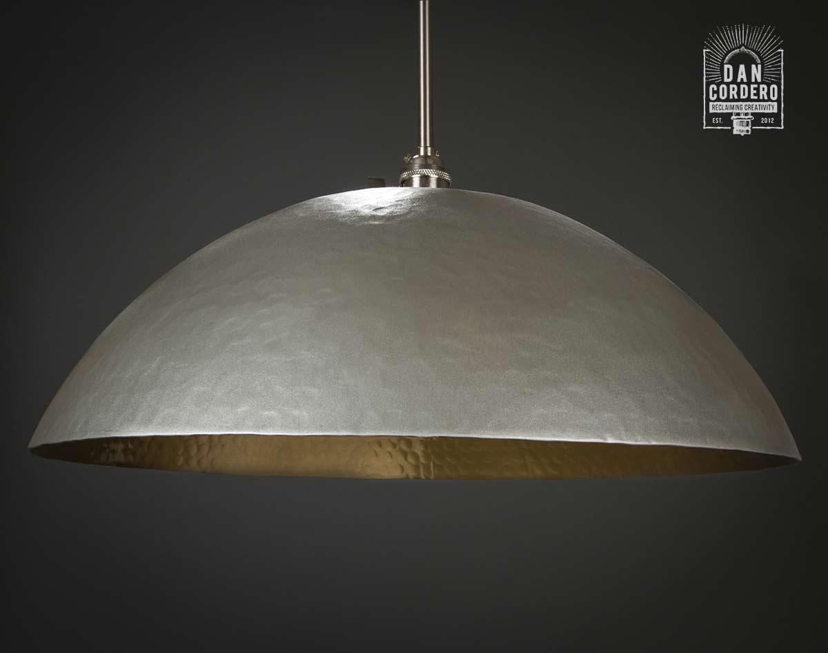 Hammered gold brushed nickel edison bulb pendant light fixture pendant light aloadofball Image collections