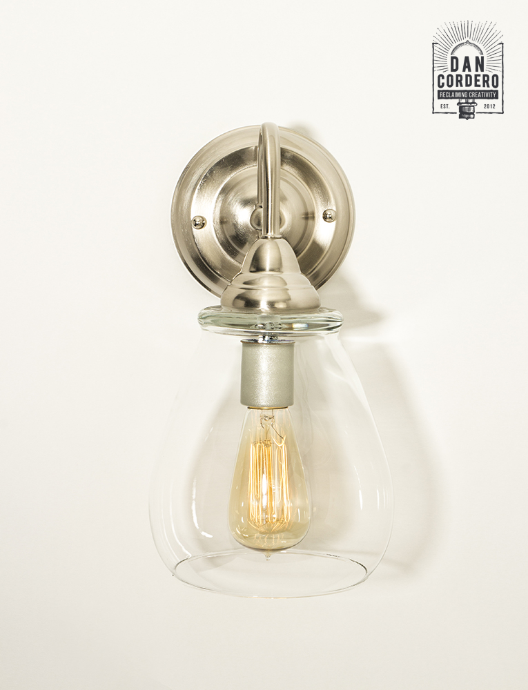 Edison Wall Sconce Light Fixture - Pear Shade