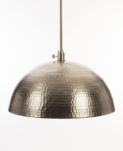 Oversized Brushed Nickel Pendant Light