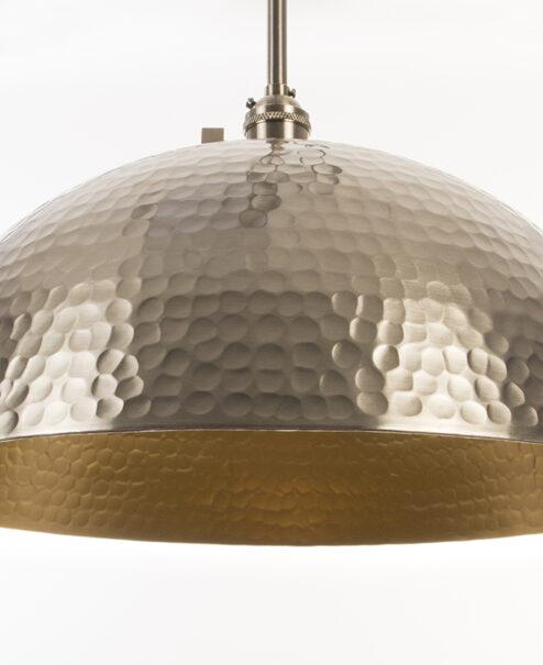 Oversized Brushed Nickel Pendant Light