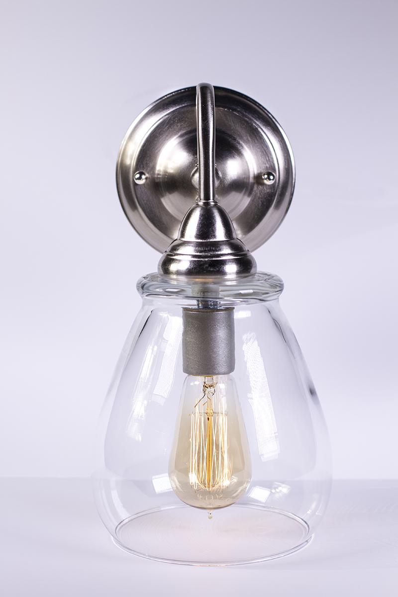 Wall Sconce Light Fixture - Edison Bulb - Pear - Dan Cordero
