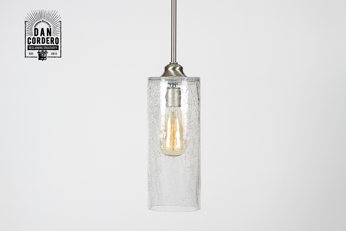 crackle pendant light fixture cylinder dan cordero