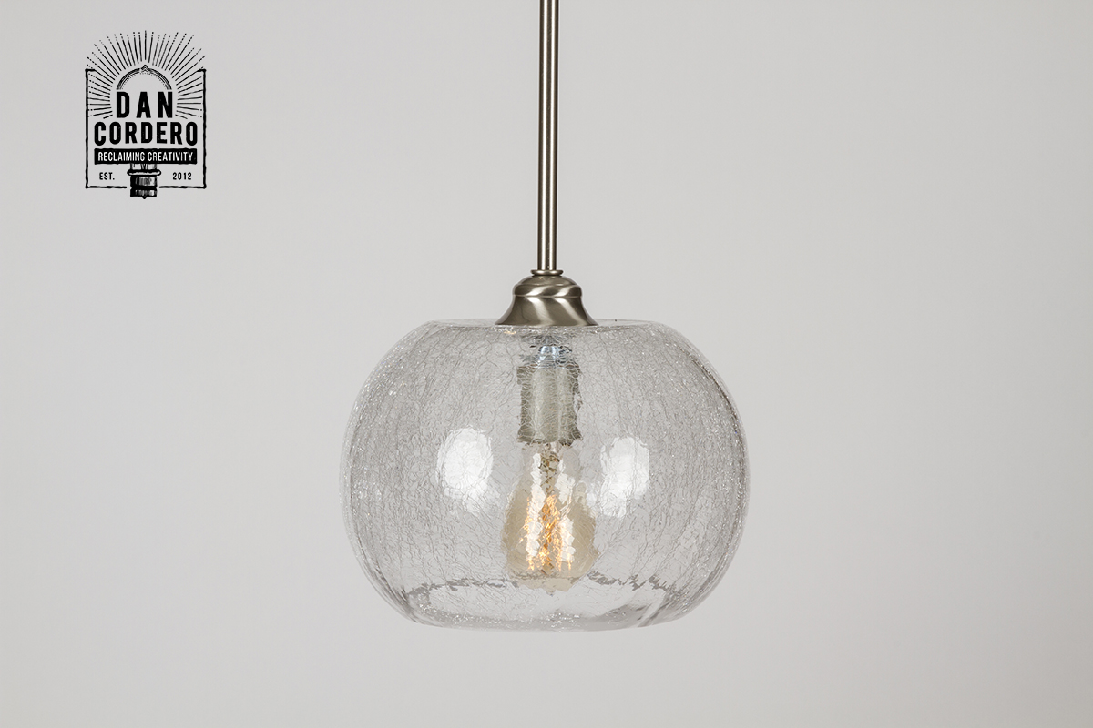 Crackle Pendant Light Fixture Bubble Dan Cordero