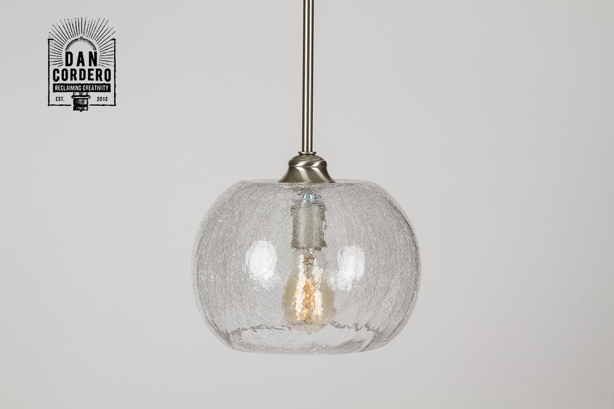 Crackle Pendant Light Fixture Bubble Dan Cordero