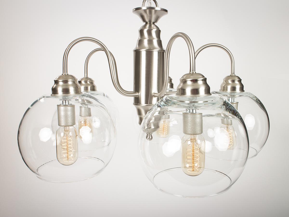 Edison Bulb Chandelier featuring Edison Light Bulbs