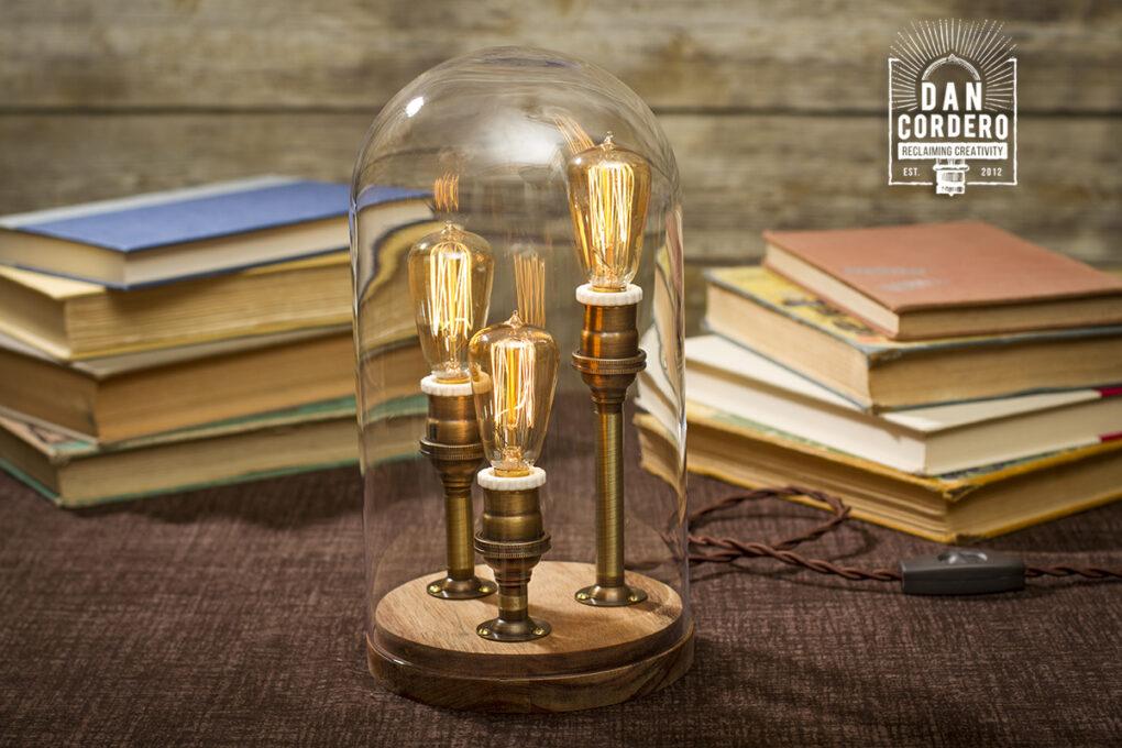 Glass Bell Jar Lamp