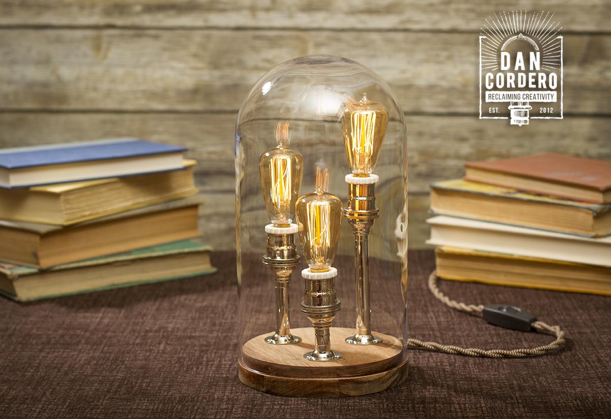 Edison bell jar table lamp desk lamp home accet edison bell jar table lamp mozeypictures Gallery