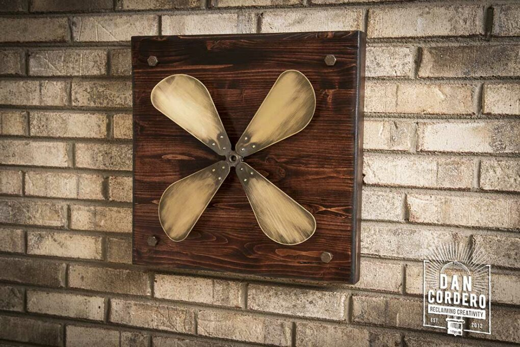 Vintage Fan Blade Wall Decor