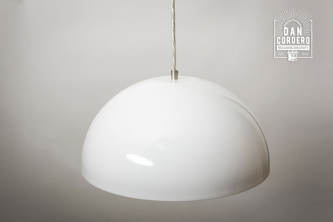White Dome Pendant Light Brushed Nickel Edison Pendant
