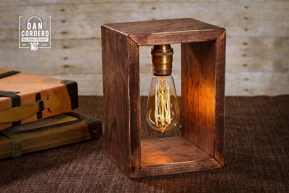 Shadow Box Edison Lamp Desk Lamp Home Accent Table Lamp