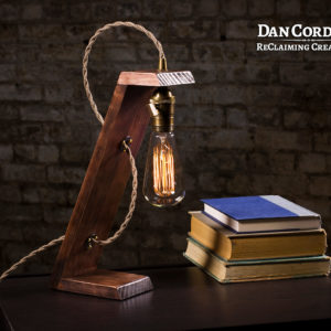 Wooden Edison Lamp