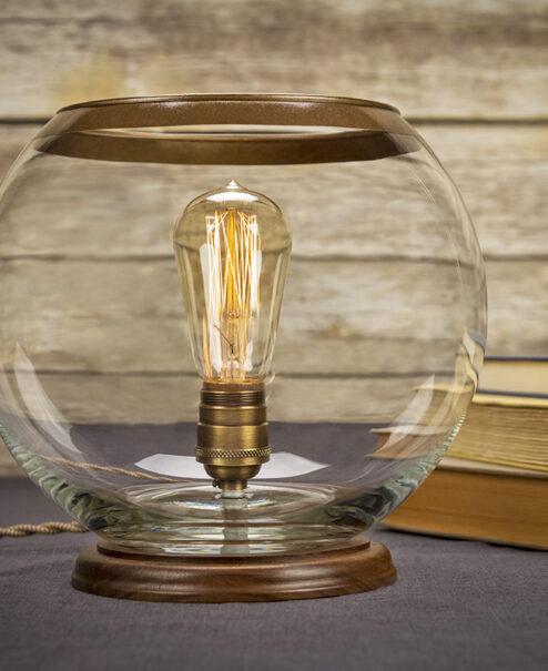 Edison Glass Globe Table Lamp