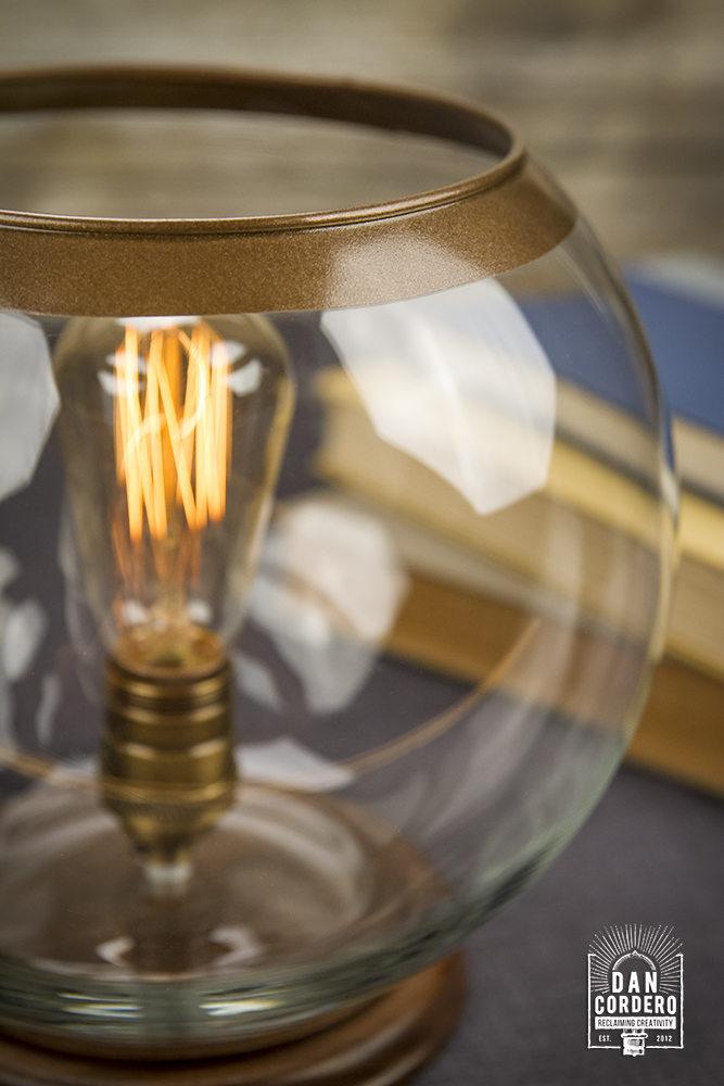 Glass Globe Table Lamp