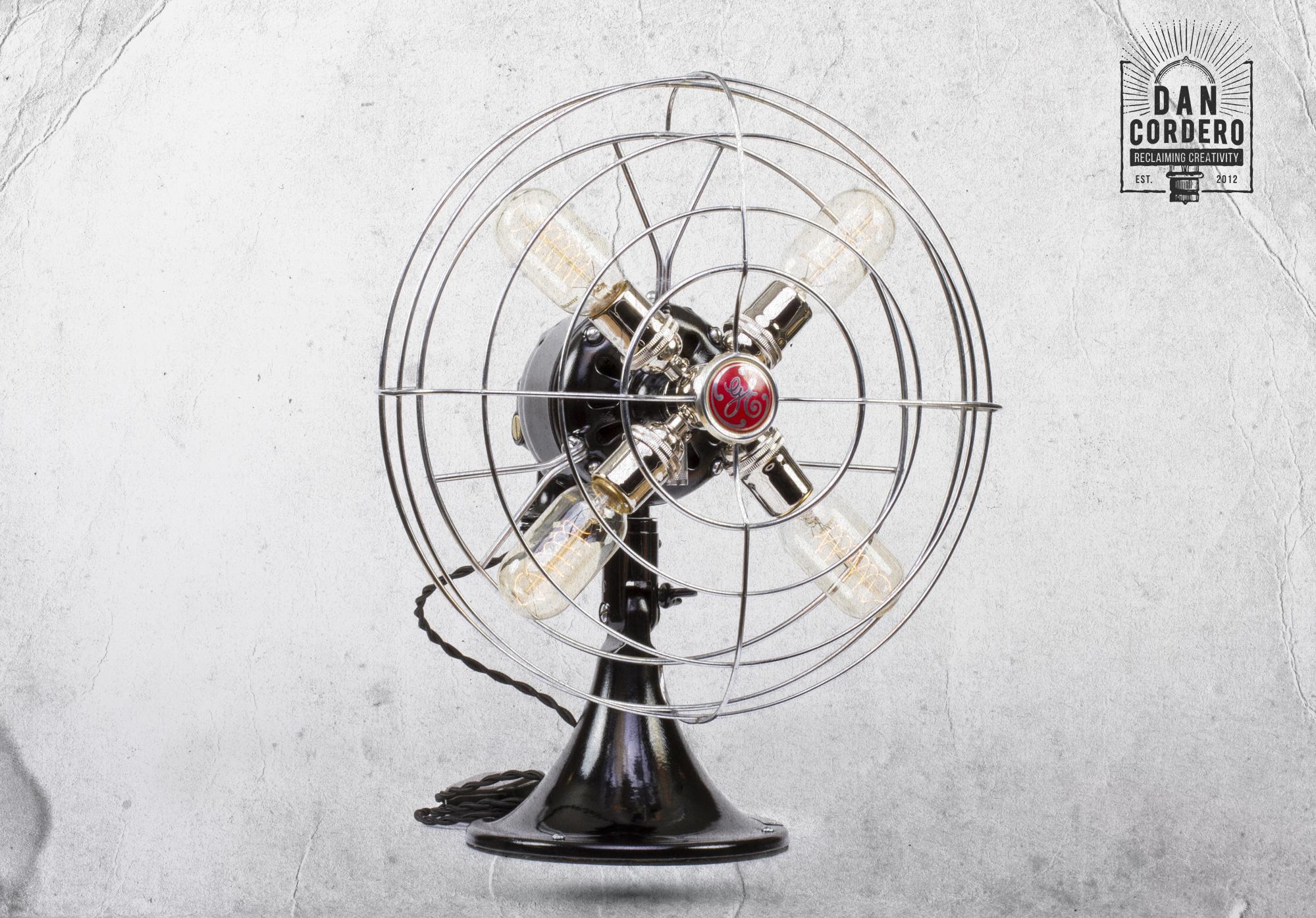 Fan Lamp Table Lamp Desk Lamp Steampunk 360˚ Product Spin