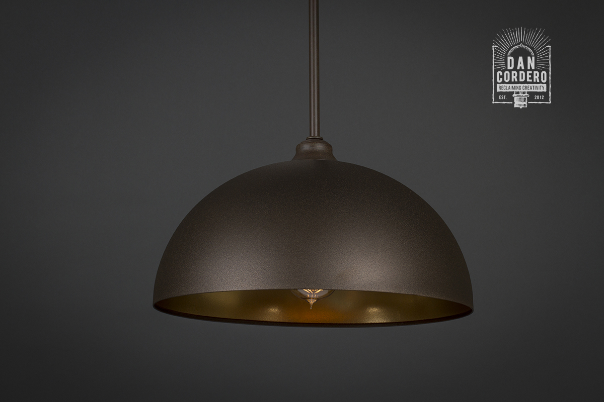 design copper dome gessato pd pendant light seed