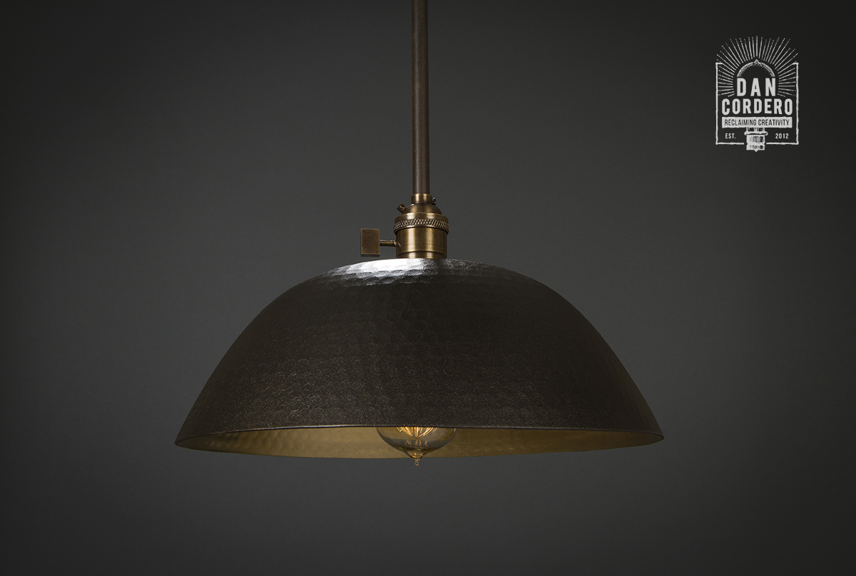 Hammered Pendant Light Fixture Oil Rubbed Bronze