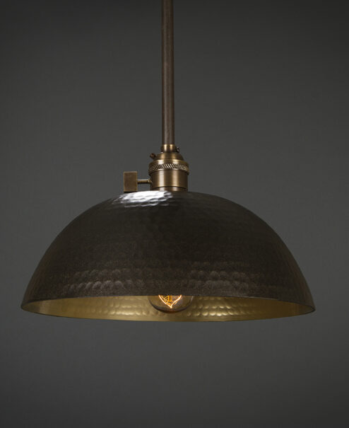 Hammered Pendant Light Fixture