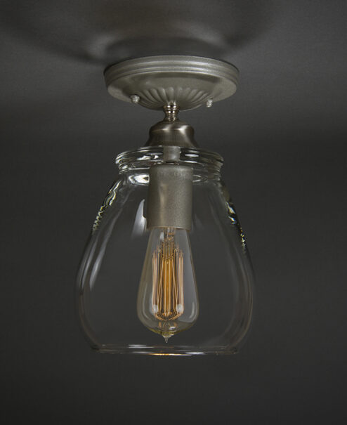 Glass Flush Mount Light Fixture