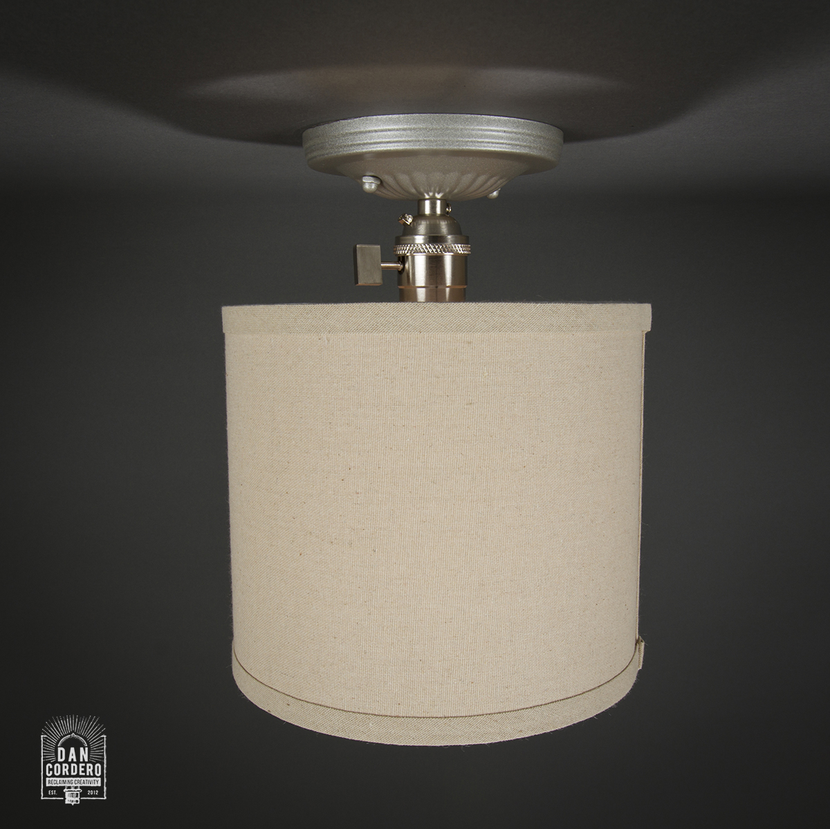 Semi Flush Ceiling Mount Edison Light Fixture Brushed