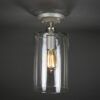 Semi-Flush Light Fixture - Wide Cylinder