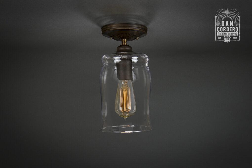 Edison Semi-Flush Light Fixture