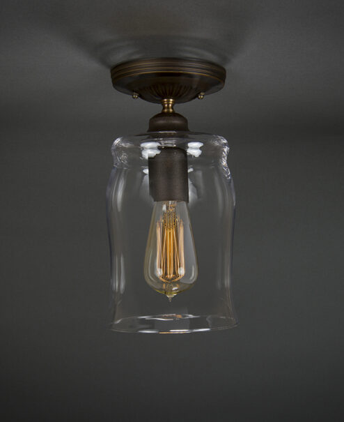 Edison Semi-Flush Light Fixture