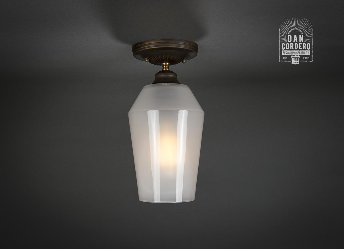 Semi Flush Ceiling Mount Edison Light Fixture Oil
