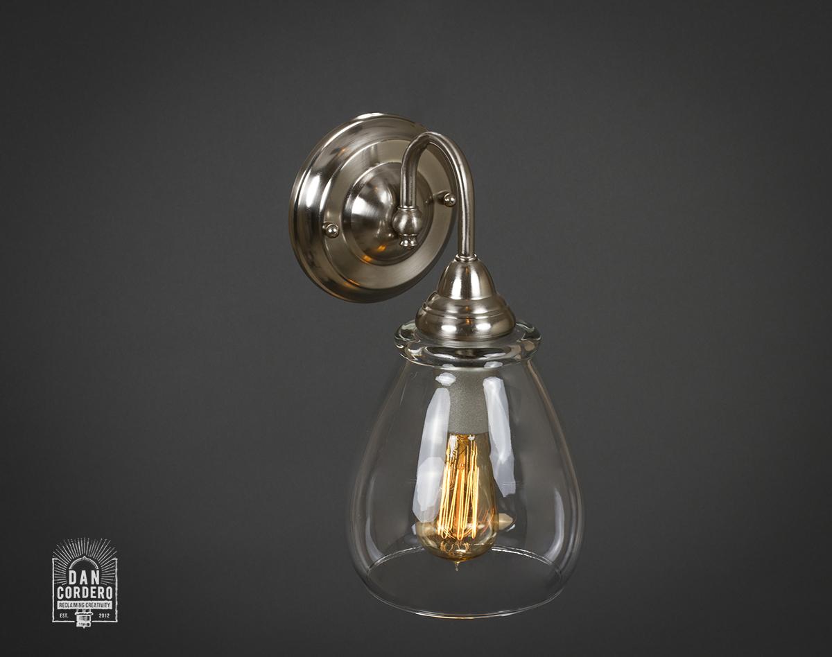 Wall Sconces Edison Bulb : Edison Light Bulb Wall Sconce Glass Shade: Pear Dan Cordero