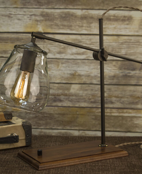 Glass Shade Table Lamp